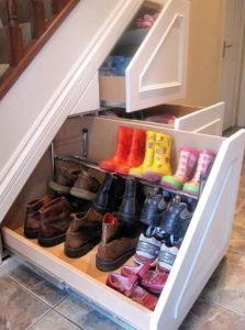 Under stairs shoe storage