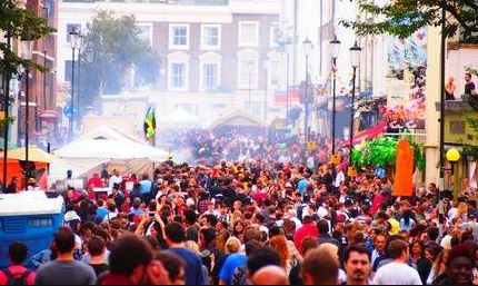 Crowd at the Notting Hill Carnival